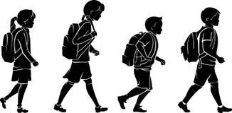 与背包的学生 向量例证