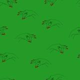 与胳膊的无缝的传染媒介样式 免版税图库摄影