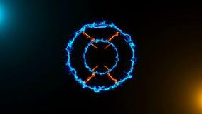 与能量隧道的抽象背景 回报Cg动画的3d 股票录像