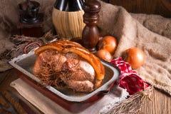 与脆皮的烤猪肉 免版税图库摄影