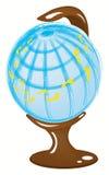 与脚印的地球 向量例证