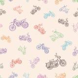 与脚踏车的无缝的纹理 免版税图库摄影