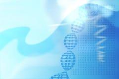 与脱氧核糖核酸螺旋概念,基因代码的抽象医疗背景 库存例证