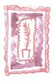 与自然唇膏化妆纹理的葡萄酒艺术性的框架秀丽婚礼邀请的创作的 免版税库存照片