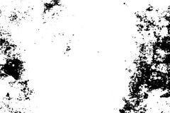 与自然噪声和五谷的土气纹理 在透明背景的黑污点 皇族释放例证