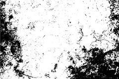 与自然噪声和五谷的年迈的纹理 在透明背景的黑污点 皇族释放例证