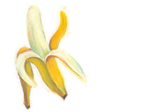 与自然淡色图象的香蕉例证 免版税图库摄影