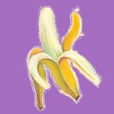 与自然淡色图象的香蕉例证 免版税库存照片