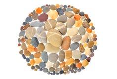 与自然石头的圆的框架 免版税库存照片