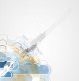 与自然,天空的综合化技术 事务的最佳的想法 免版税库存照片