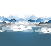 与自然,天空的综合化技术 事务的最佳的想法 库存图片