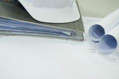 与自由白色空间的工程图 免版税库存图片