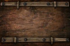 与自由空间西部样式的木头 库存照片