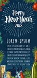 与致敬的海报垂直的新年快乐书法字法 免版税库存图片