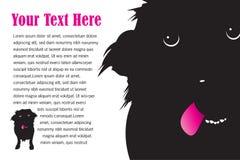 与舌头页设计的一条愚蠢的逗人喜爱的狗 库存例证