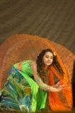 与舞蹈的Mamadova Daria 免版税图库摄影