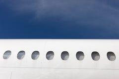 与舷窗的机体元素 免版税库存照片