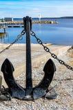 与船锚的小船滑动 库存照片