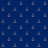 与船锚的无缝的样式 图库摄影