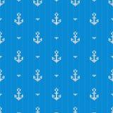 与船锚的无缝的被编织的样式 向量 免版税库存图片