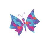 与色的三角样式的蝴蝶 免版税库存照片