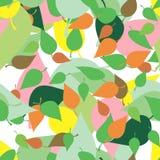 与色的叶子和污点的无缝的样式在难看的东西样式 库存例证