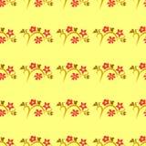 与色的叶子的无缝的模式 免版税库存图片