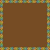 与色的圆环链子的框架 免版税图库摄影