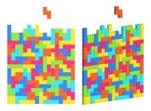 与色的块的难题 长方形elem被装配的马赛克  皇族释放例证