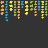 与色的星的样式框架 免版税库存图片