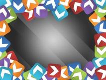 与色的正方形的抽象框架 库存照片