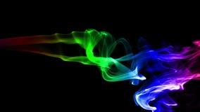 与色的真正的烟的黑暗的抽象背景 股票录像