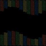 与色的curlicues的样式框架 库存图片