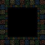 与色的curlicues的框架 免版税库存照片