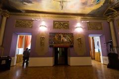 与艺术家著名工作的内部在大理博物馆 库存照片
