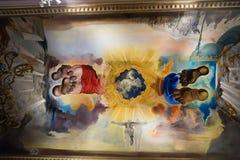 与艺术家著名工作的内部在大理博物馆 免版税图库摄影