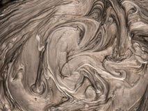 与艺术性和创造性的接触的金属油漆纹理 库存例证