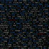 与节目代码的无缝的样式在黑背景 免版税库存照片