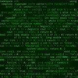 与节目代码的无缝的样式在绿色背景 库存照片