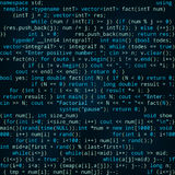 与节目代码的无缝的深蓝样式 库存照片