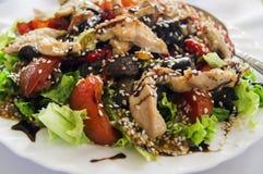 与芝麻籽的菜沙拉 库存图片