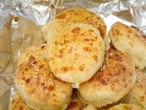 与芝麻籽的乳酪面包 免版税库存图片