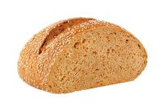 与芝麻籽的家制面包 库存照片