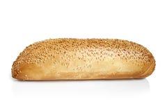 与芝麻籽的微型法国面包长方形宝石 免版税库存照片