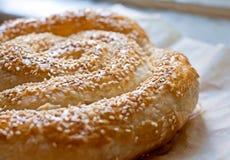 与芝麻籽的面包 免版税库存照片