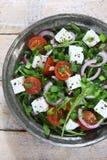 与芝麻菜的沙拉 库存照片
