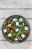 与芝麻菜的沙拉 库存图片