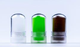 与芦荟维拉萃取物,在除臭剂棍的Lakoocha萃取物的铵明矾 腋下止汗药产品 创造性的产品 免版税库存图片