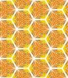 与花卉主题的无缝的样式 为打印设计在织品,封皮,纸,墙纸 黄绿颜色 皇族释放例证