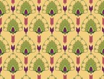 与花卉主题的无缝的纹理 库存图片